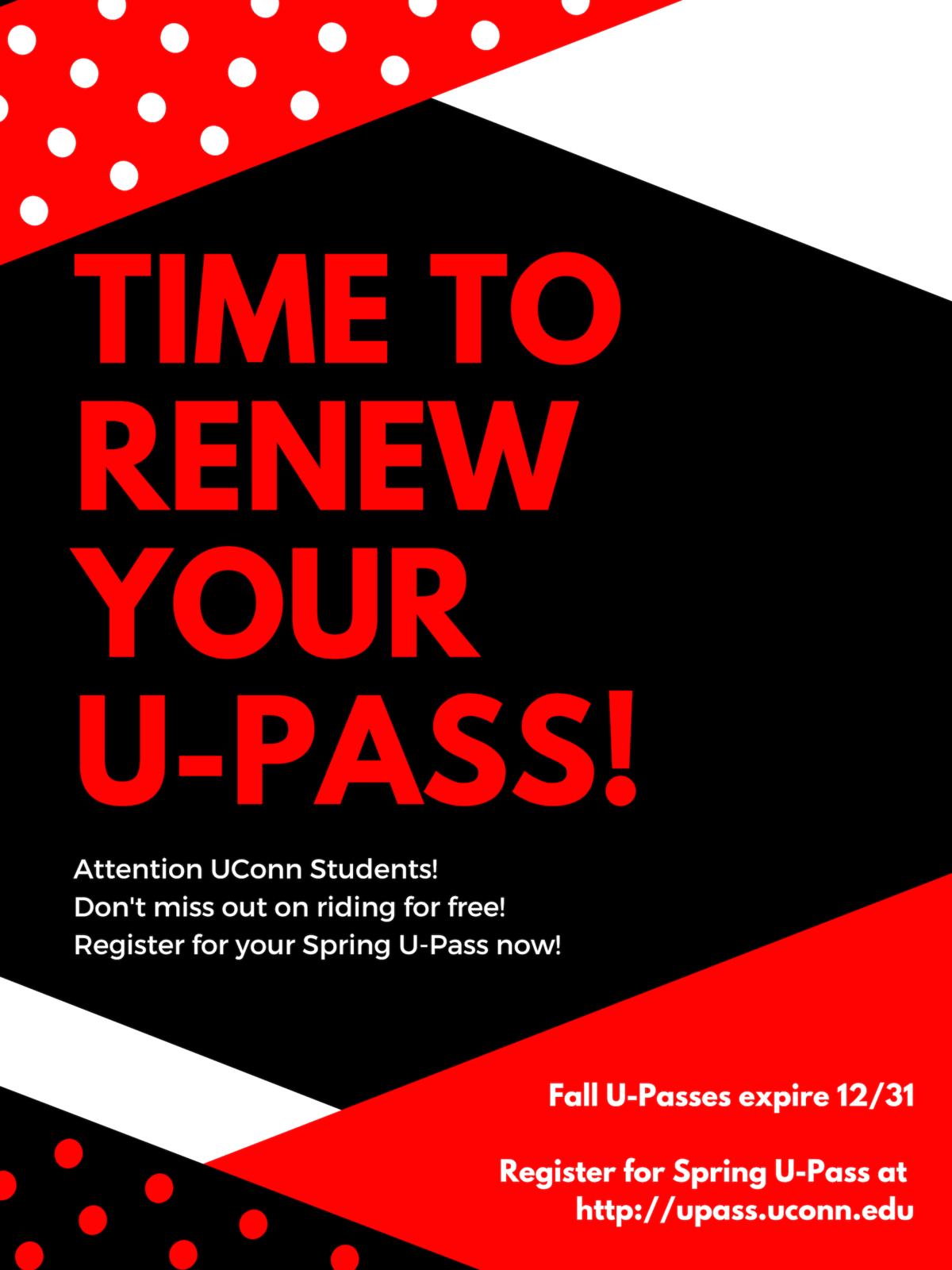 Students – Remember to renew your U-Pass!